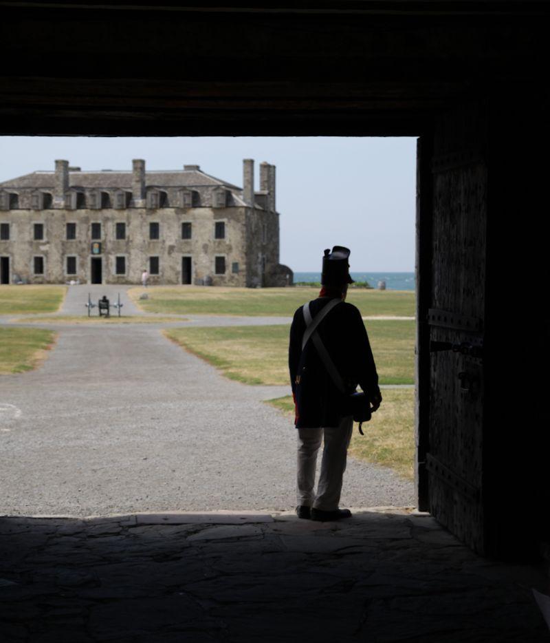 Fake Soldier at Fort Niagara