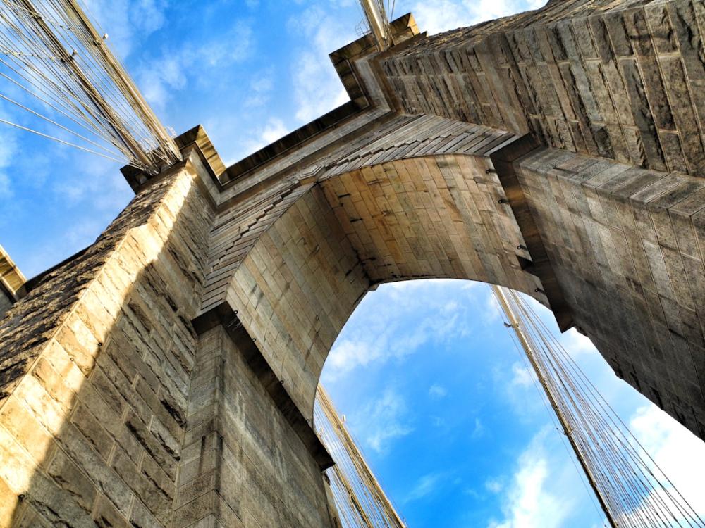 Brooklyn Bridge and Blue Skies