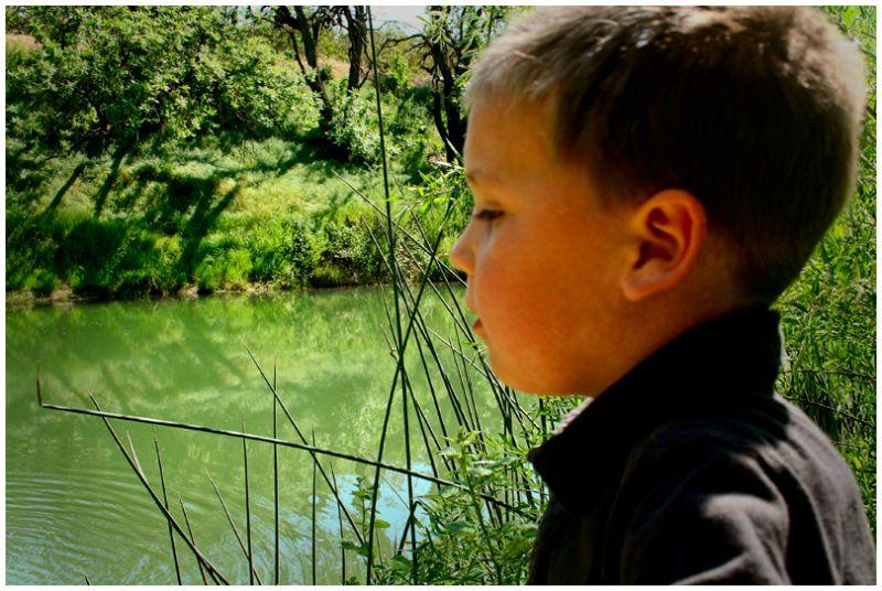 Riley at Putah Creek