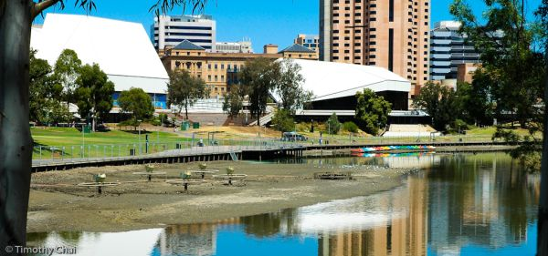 Adelaide Torrens River dry