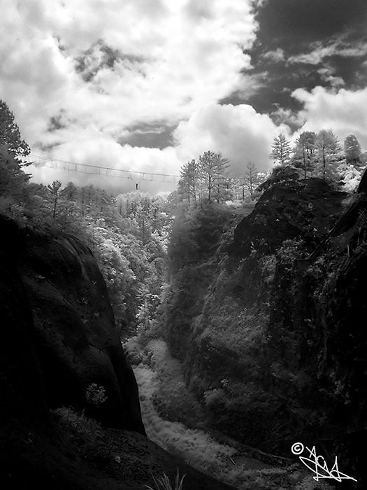 pixel podrido alberto guzman infrared black white