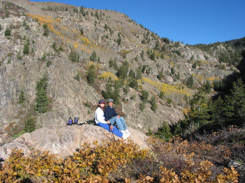Resting on a hike in the Colorado Rockies