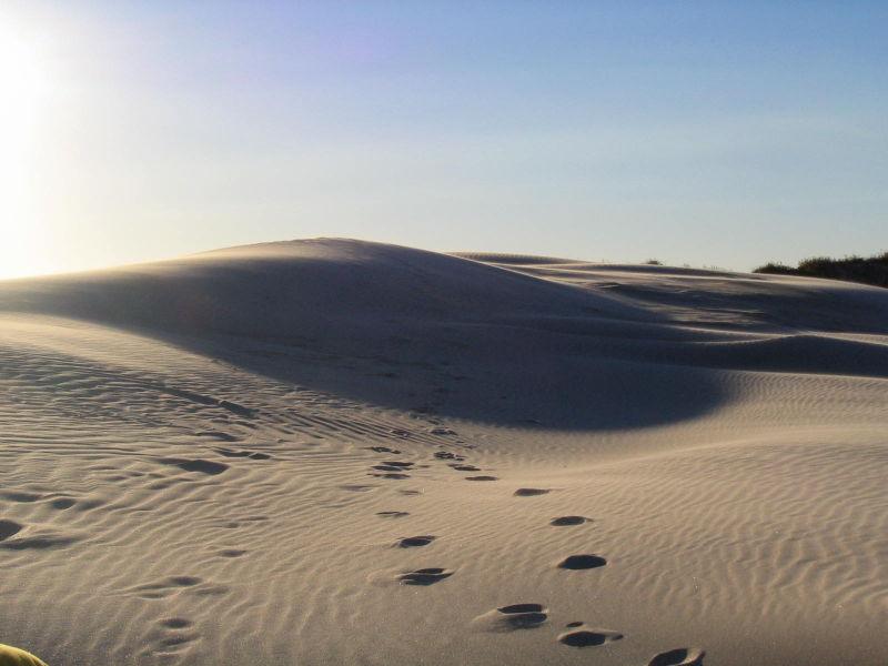 Sand, sun rays and sky
