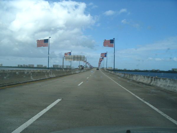 Crossing a bridge near the airport