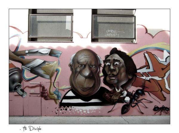 Graffiti à Arnaud bernard #1 - Pinky Graff
