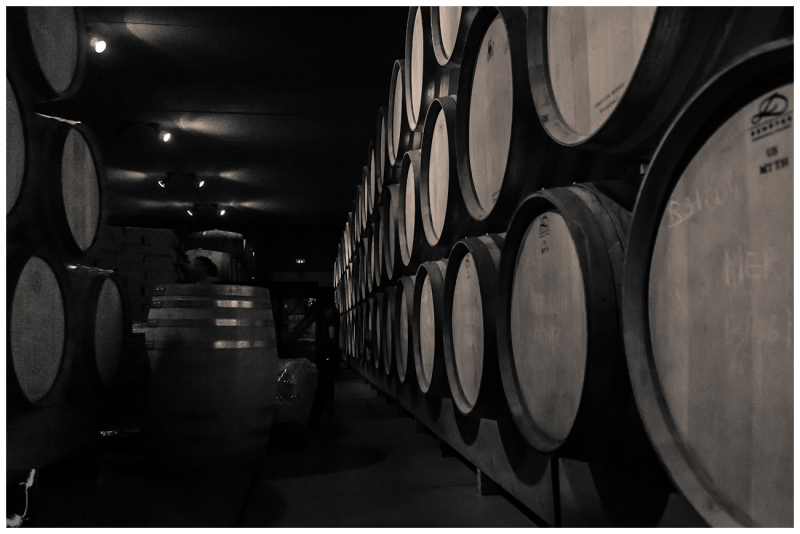 BOOTS IN THE  WINE CELLER