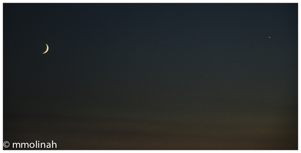 BLUE HOUR (Venus & moon Fom my Window collection)
