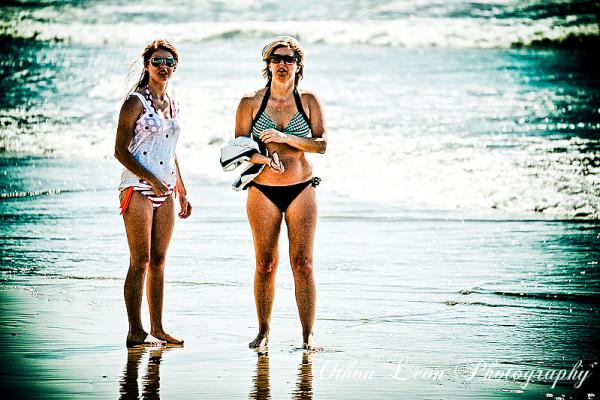 Women in the beach