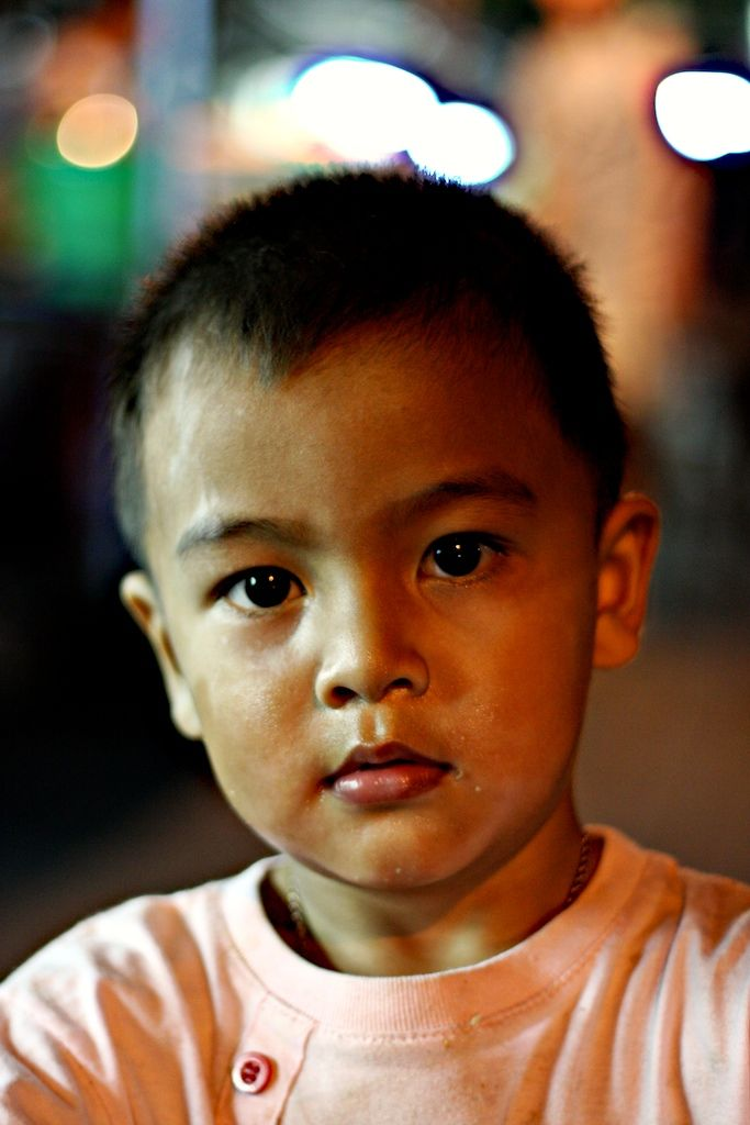 Little boy in Bangkok streets