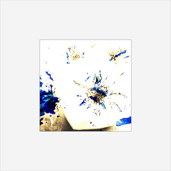 Eclaboussures bleues...
