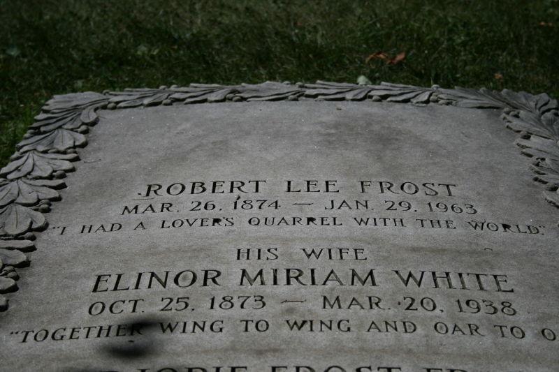 cemetery, nh - robert frost
