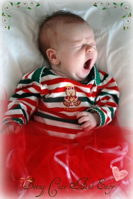 Sleepy Christmas infant