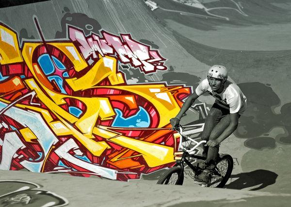 cycliste sur son bmx