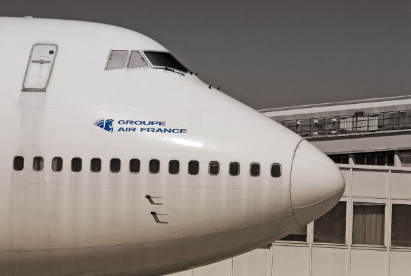 boeing 747 sur l'aéroport du Bourget