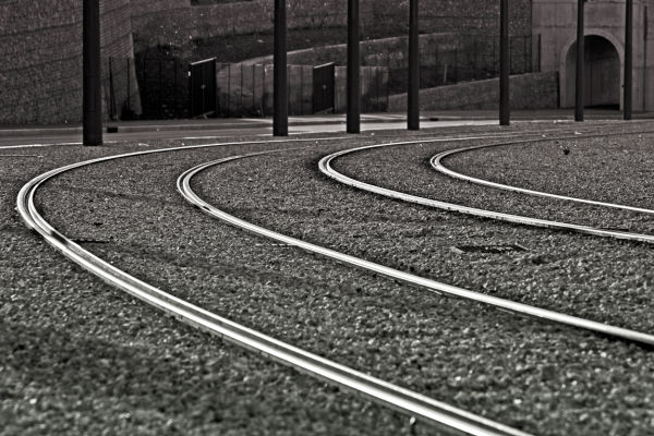 rails de tramway