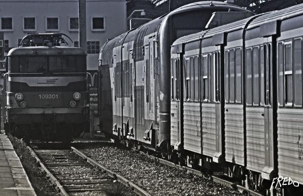 train dans la gare de Marseille