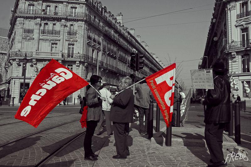 manifestants à marseille