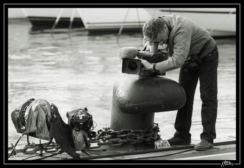cameramen sur le vieux port de marseille
