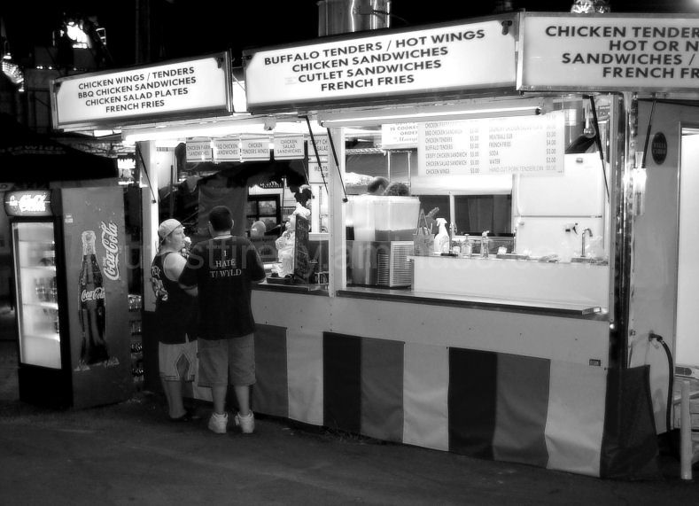 Food vendor at Marshfield Fair