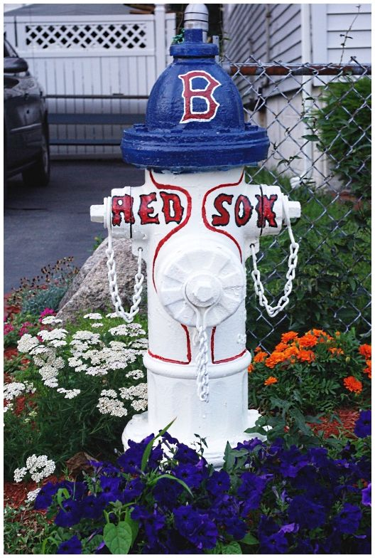 Remodeled fire hydrant in Quincy MA.