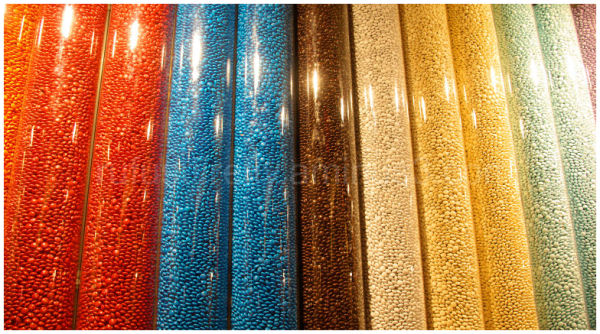 Tubes of m&m's from Times Square m& m Store