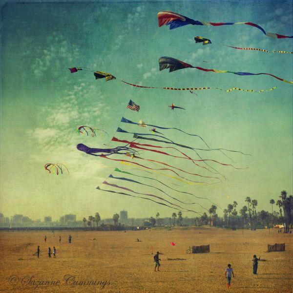 Kite flying, Seal Beach, California