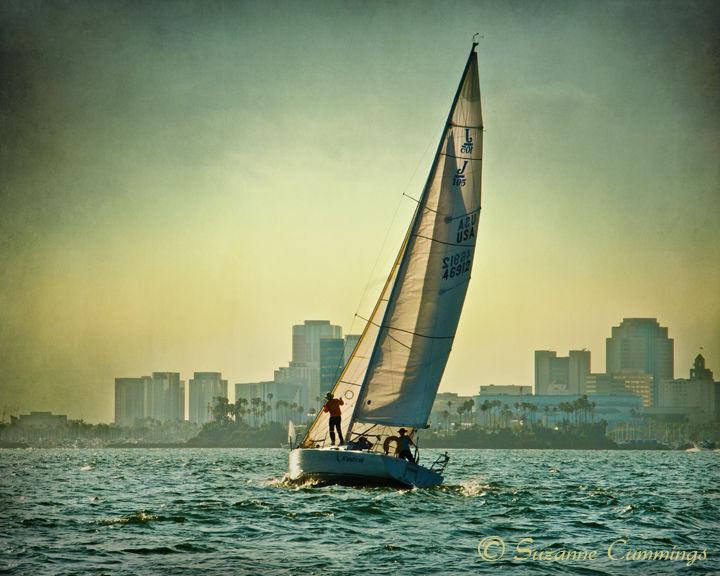 Sailboat in Long Beach Harbor