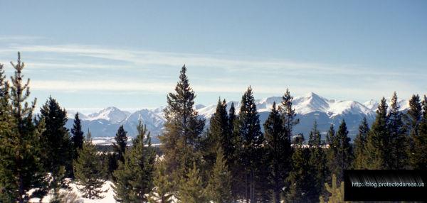 Mt. Elbert as seen from Leadville, Colorado