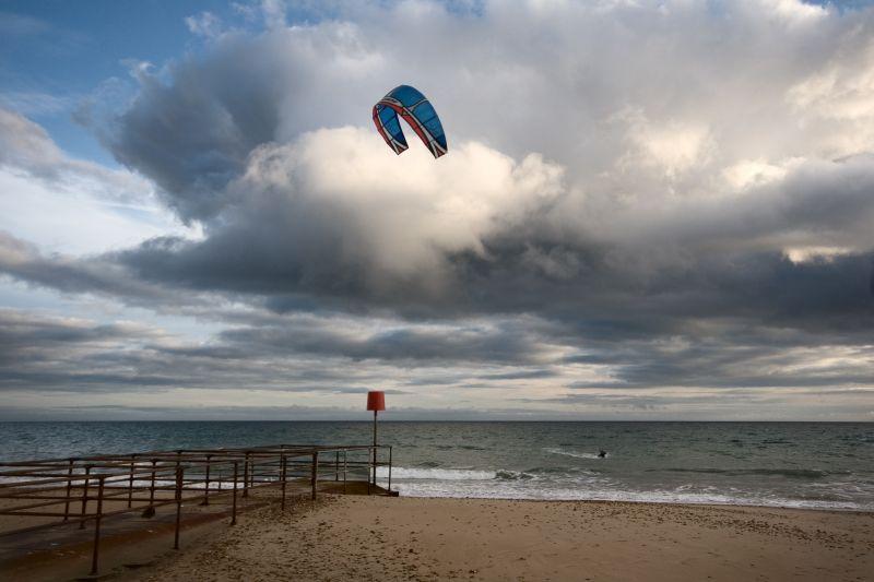 Kite Surfer Boscombe Beach Bournemouth