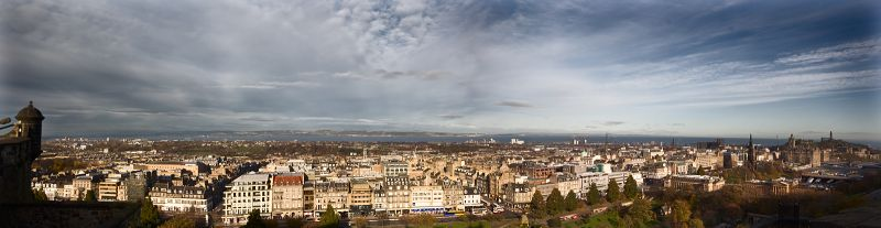 edinburgh castle panorama sky city scotland