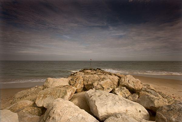 christchurch sea defence groyne wave splash
