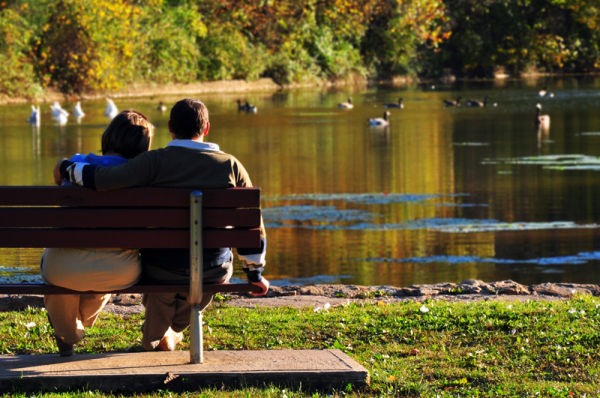 Couple on Bench.