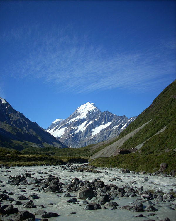 Mt Cook in the Hooker Valley, New Zealand