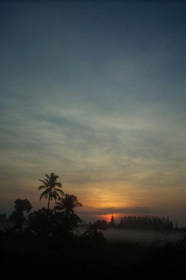 Sunrise in Thailand near Surat Thani