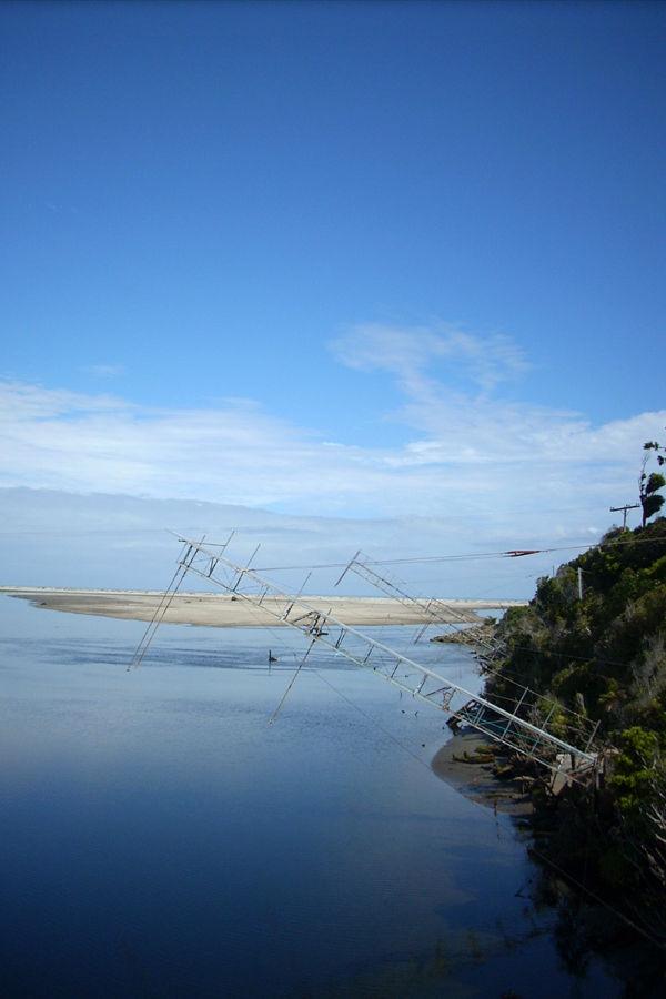 whitebait nets, Okuru, New Zealand