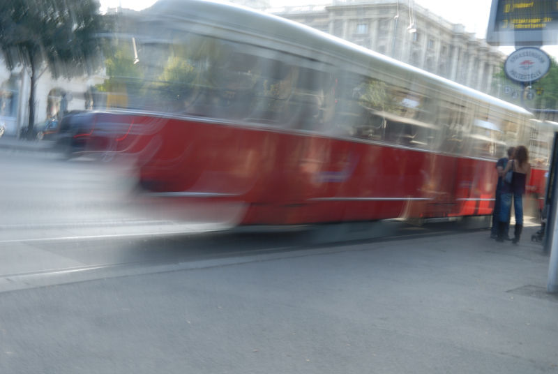 Vienna trolly and a pair of lovers