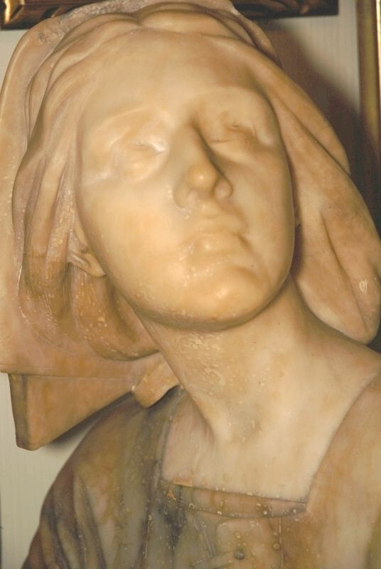 Joan of Arc marble sculpture by E. Castellucci