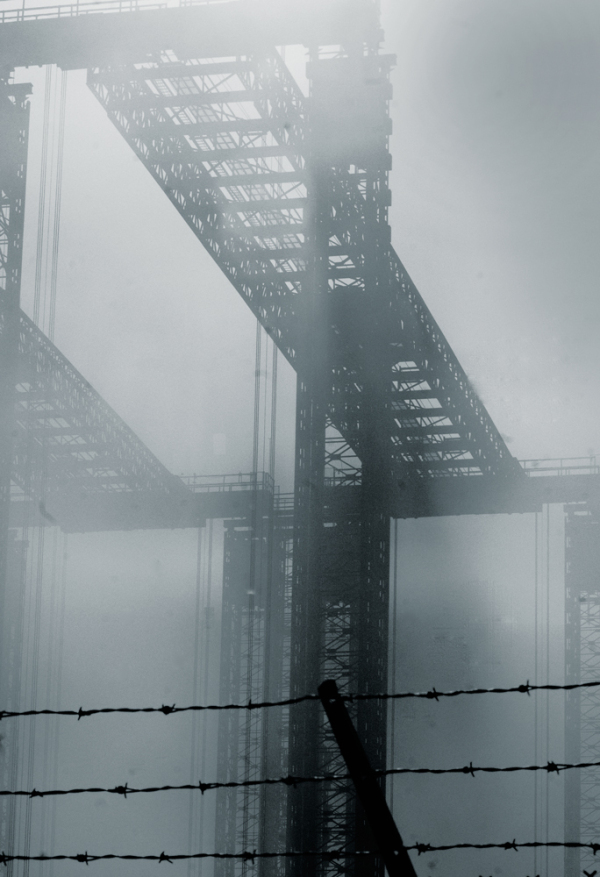 fog & Fore River Brige in Quincy, Massachusetts