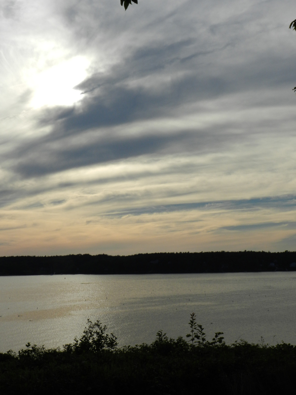 The changing clouds over Harpswell Sound, Maine