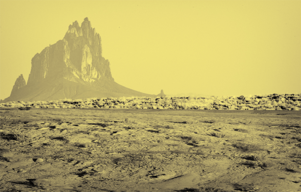 Shiprock mountain in north New Mexico