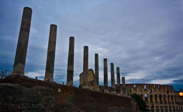 Roman Forum and the Colosseum