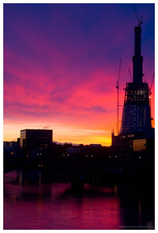 Shard, London, sunrise
