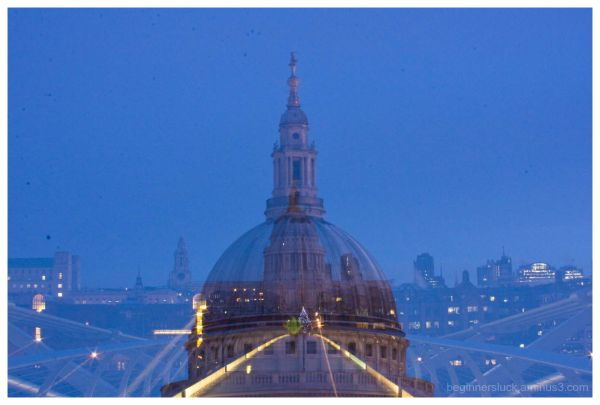 St Paul's cathedral super imposed on itself