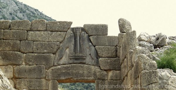 Main gate of the ancient Mycenae palace