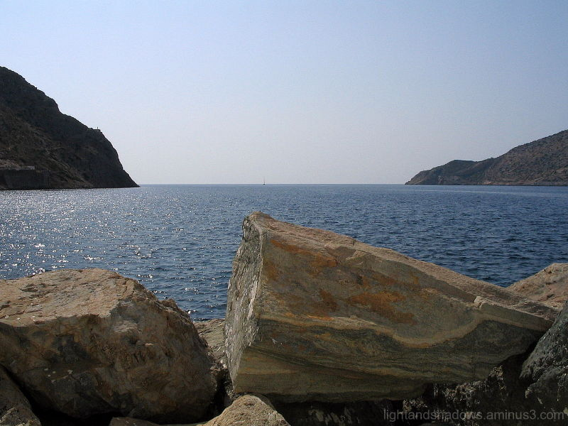 Looking at the Aegean sea