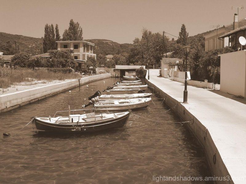 Boats in line, Greece, Pelio