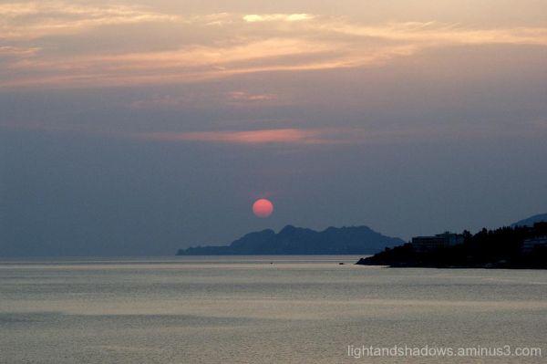 Sunset at Loutraki- Greece