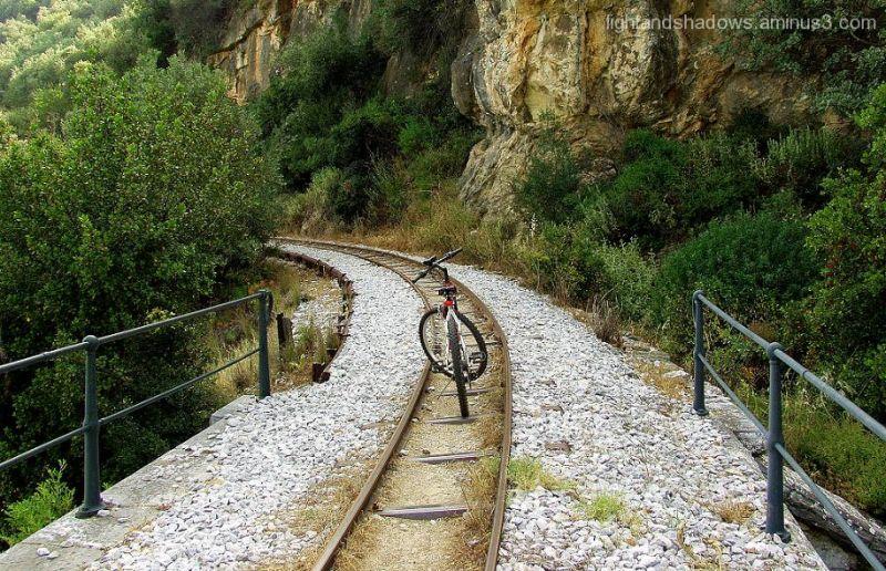 railway lines at mountain pelio, Greece