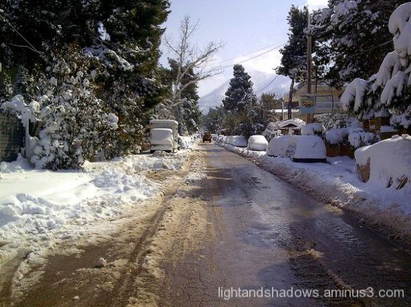 Snow at Drossia Greece