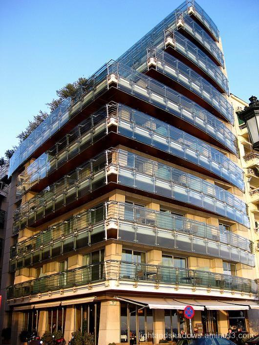 peculiar building at Thessaloniki Greece
